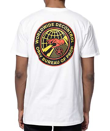 Obey Worldwide Decontrol White T-Shirt