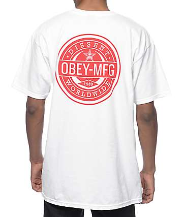 Obey Worldwide Dissent White T-Shirt