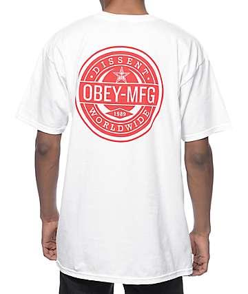Obey Worldwide Dissent White T-Shirt