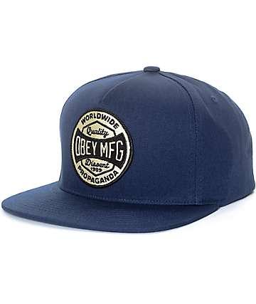Obey Worldwide Dissent gorra snapback en azul marino
