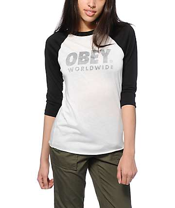 Obey Worldwide Family Baseball Tee