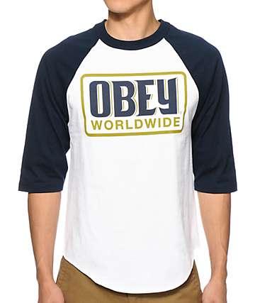 Obey Worldwide Posse Baseball T-Shirt