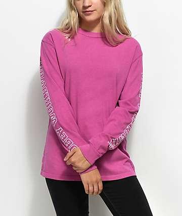 Obey Worldwide camiseta rosa de manga larga