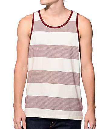 Obey Wythe Burgundy Tank Top