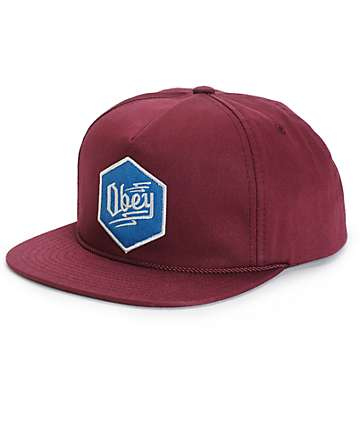 Obey Zig Snapback Hat
