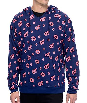 Odd Future All Over Navy & Red Hoodie