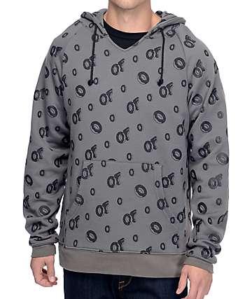 Odd Future All Over capucha en gris y negro