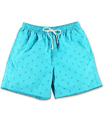 Odd Future Allover Donut board shorts azules