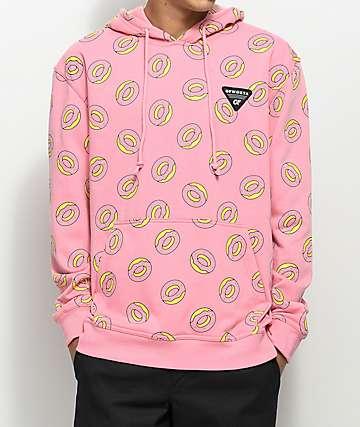 Odd Future Allover Donut sudadera rosa con capucha