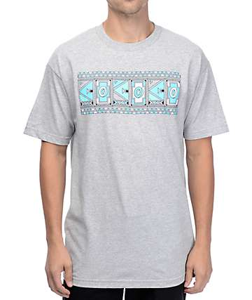 Odd Future Aztec Logo Grey T-Shirt