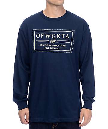 Odd Future Bar Logo Navy Long Sleeve T-Shirt