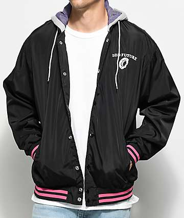 Odd Future Black Hooded Varsity Jacket