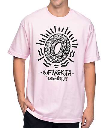 Odd Future Bling Donut Light Pink T-Shirt