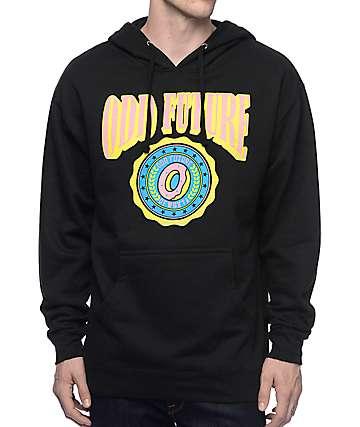 Odd Future Circle Logo Donut Black Hoodie