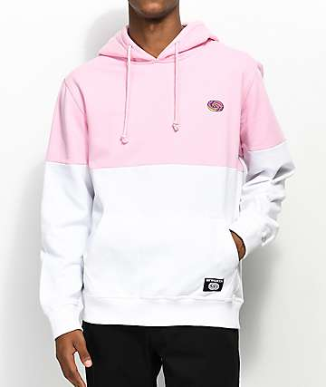 Odd Future Colorblock sudadera con capucha en rosa y blanco