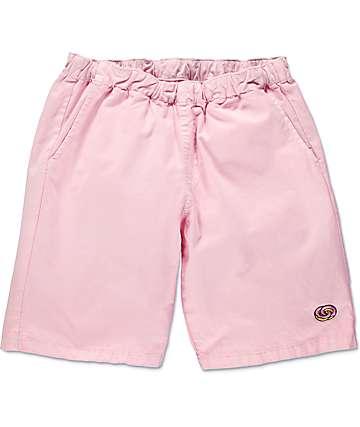 Odd Future Donut Emblem shorts en rosa