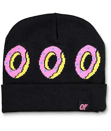 Odd Future Donut Foldover Black Beanie