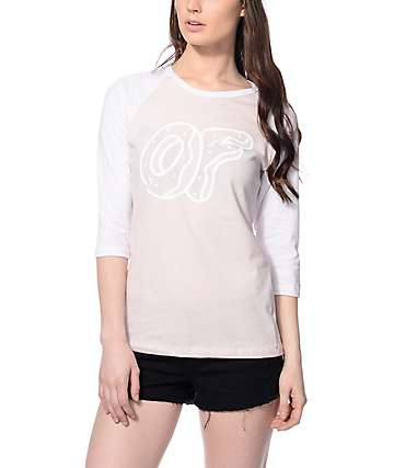 Odd Future Donut Logo Pink Baseball T-Shirt