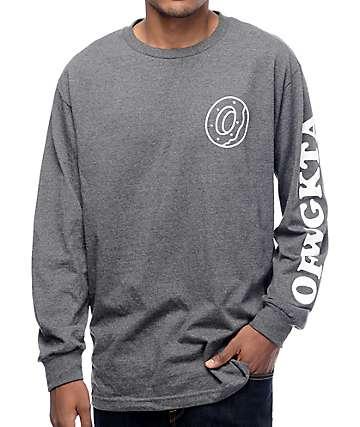 Odd Future Donut OFWGKTA camiseta manga larga gris