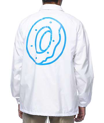 Odd Future Donut Triangle White Coach Jacket
