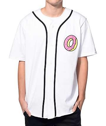 Odd Future Donut White Baseball Jersey