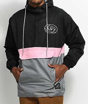Odd Future Eternity Rings chaqueta anorak en negro, rosa y gris