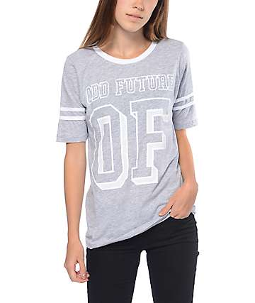 Odd Future Hockey Stripe Grey T-Shirt