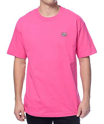 Odd Future Infinity Donut Embroidered Pink T-Shirt