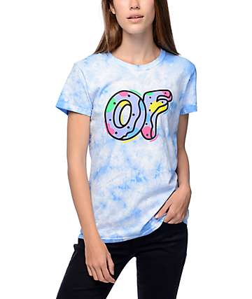 Odd Future Logo Blue Crystal Wash T-Shirt