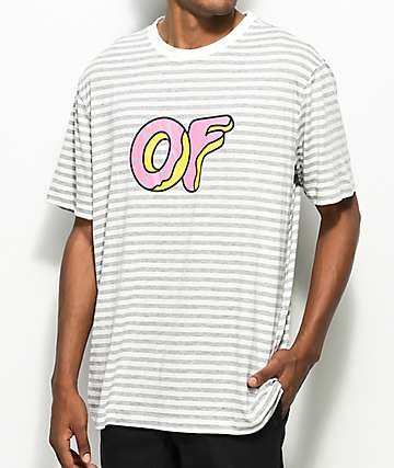 Odd Future Logo Striped Knit T-Shirt