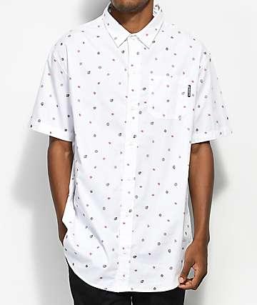 Odd Future Mini OF Print camisa tejida en blanco