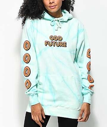 Odd Future Mint Spiral Tie Dye Hoodie