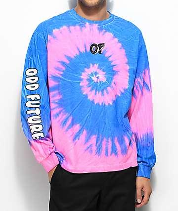 Odd Future Neon Razz camiseta de manga larga con efecto tie dye