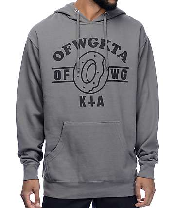 Odd Future OF Donut WGKTA Charcoal Hoodie