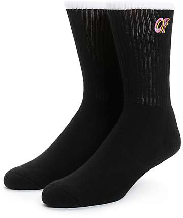 Odd Future OF Logo Black Crew Socks