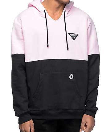 Odd Future OFWGKTA Color Blocked Pink & Black Hoodie