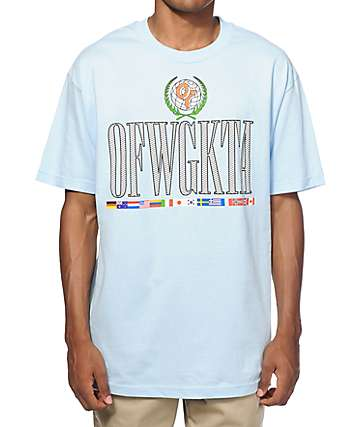 Odd Future Pastel Global Flags T-Shirt
