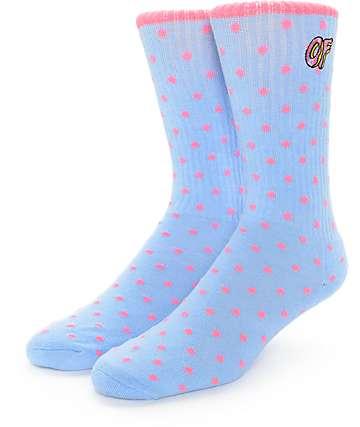 Odd Future Polka Dot Logo Blue Crew Socks