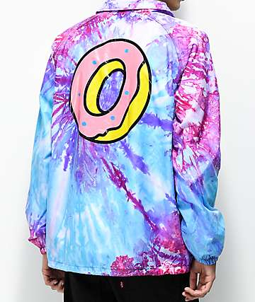 Odd Future Purple & Pink Tie Dye Coaches Jacket