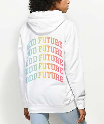 Odd Future Rainbow Logo White Hoodie