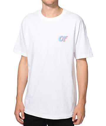Odd Future Red & Blue Lines OF Logo T-Shirt