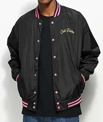 Odd Future Roses Black Varsity Bomber Jacket