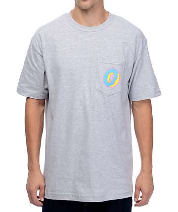 Odd Future Single Donut Athletic Grey Pocket T-Shirt
