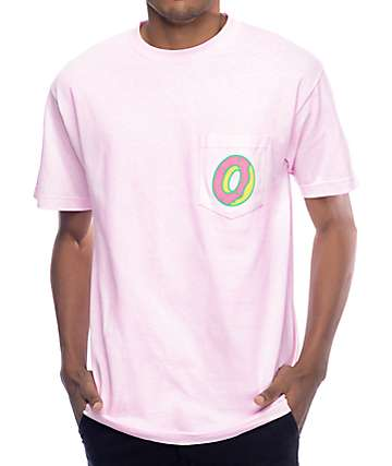 Odd Future Single Donut Pink Pocket T-Shirt