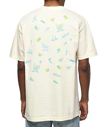 Odd Future Skates camiseta en color crema