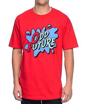 Odd Future Splash Logo Red T-Shirt