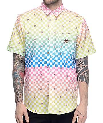 Odd Future Technicolor camisa tejida a cuadros