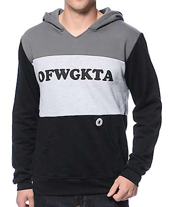 Odd Future Tri Color OFWGKTA Charcoal Hoodie