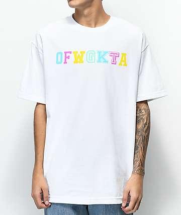 Odd Future Wolf Gang Collegiate camiseta blanca