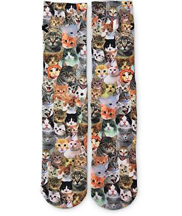 Odd Sox Cats Crew Socks